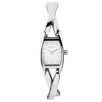 Womens DKNY Silver Twist Watch (Stainless Steel, Gold plated bracelet)
