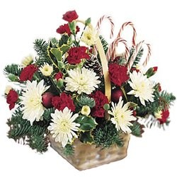 Holiday Flower Basket