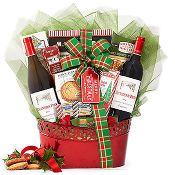 Holly and Holiday Kisses Gift Basket